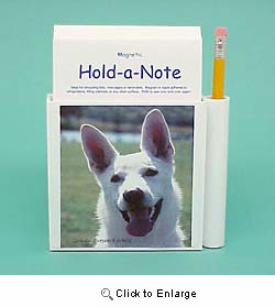 White German Shepherd Hold-a-Note