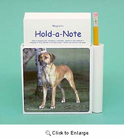 Rhodesian Ridgeback Hold-a-Note