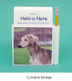 Saluki Hold-a-Note