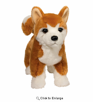 "Shiba Inu Plush Stuffed Animal ""Dunham"" 16"""