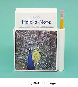 Peacock Hold-a-Note