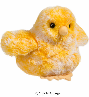 "Chicken Plush Stuffed Animal ""Yellow"" 4"""