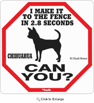 Chihuahua 2.8 Seconds Sign