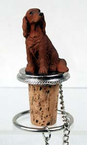 Irish Setter Bottle Stopper