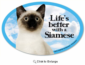 Siamese Cat Car Magnet - Life's Better