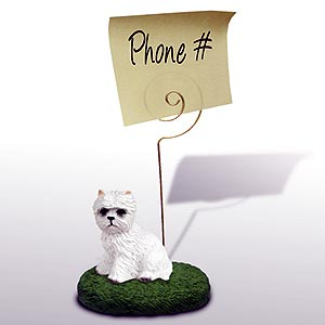West Highland Terrier Note Holder