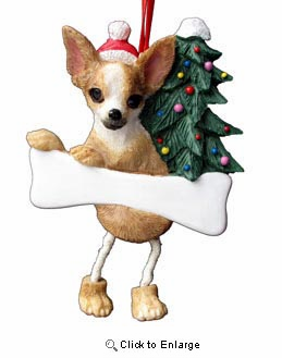 Chihuahua Christmas Tree Ornament - Personalize