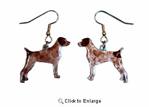 German Shorthaired Pointer Earrings Hand Painted Acrylic