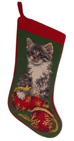 Kitten Christmas Stocking
