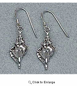 Shell Earrings Sterling Silver