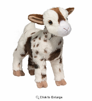 "Goat Plush Stuffed Animal ""Gerti"" 9"""