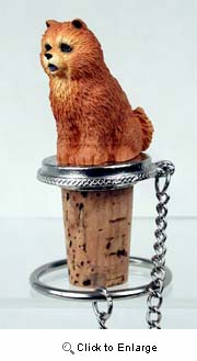 Chow Chow Bottle Stopper