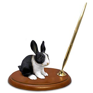Rabbit Pen Holder (Black & White)