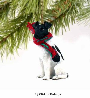 Smooth Fox Terrier Tiny One Christmas Ornament Black-White