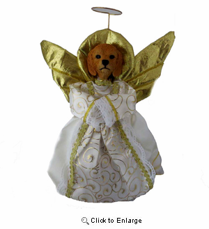 Goldendoodle Angel Christmas Tree Topper