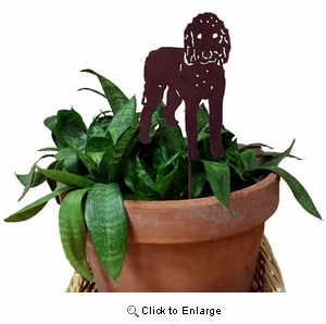 Goldendoodle Plant Stake