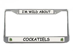 Cockatiel License Plate Frame