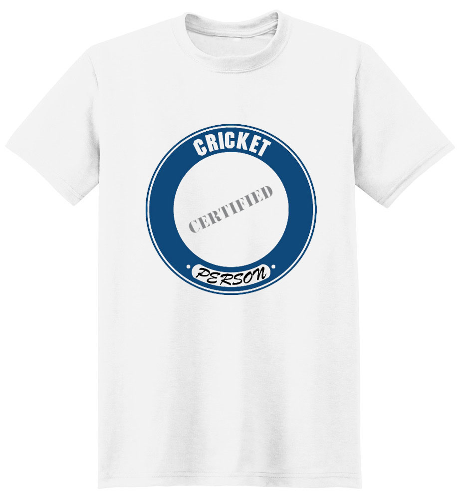 Cricket T-Shirt - Certified Person