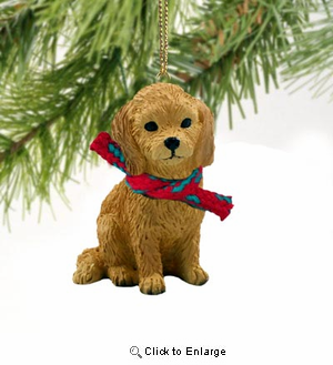 Goldendoodle Tiny One Christmas Ornament