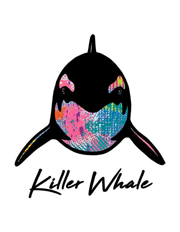 Killer Whale T Shirt Colorful Abstract