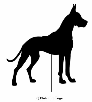 Great Dane Garden Stake