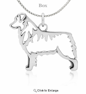 Sterling Silver Australian Shepherd Body Necklace