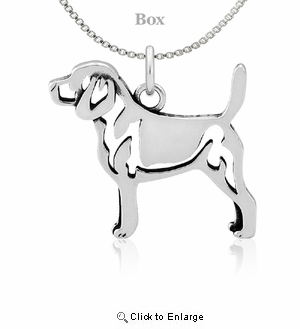 Sterling Silver Beagle Necklace