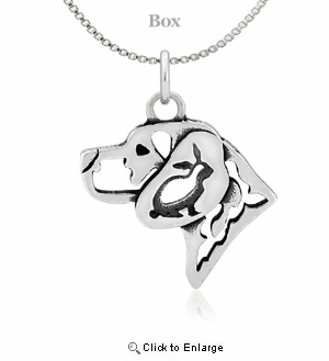 Sterling Silver Beagle W/Rabbit Necklace