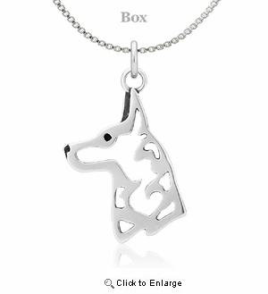 Sterling Silver Belgian Malinois Necklace
