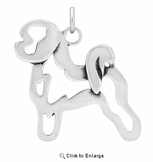 Sterling Silver Bichon Frise Body Necklace