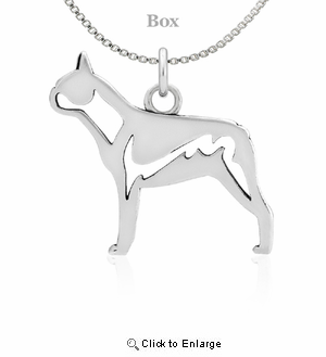 Sterling Silver Boston Terrier Body Necklace