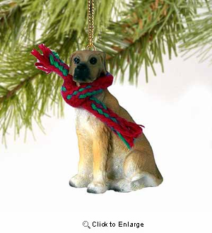 Great Dane Tiny One Christmas Ornament Fawn Uncropped