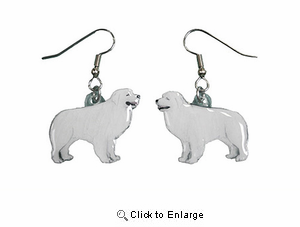 Great Pyrenees Earrings Hand Painted Acrylic