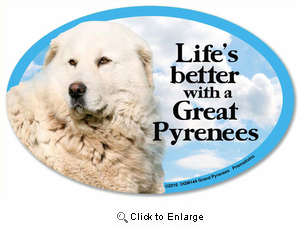Great Pyrenees Car Magnet - Life's Better