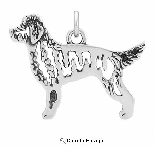 Sterling Silver Goldendoodle Body Necklace
