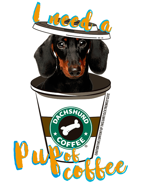 Dachshund T Shirt - Coffee Mug Black