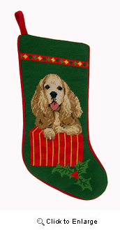 Cocker Spaniel Christmas Stocking
