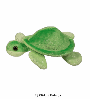 "Green Turtle 10"" Stuffed Plush Animal"