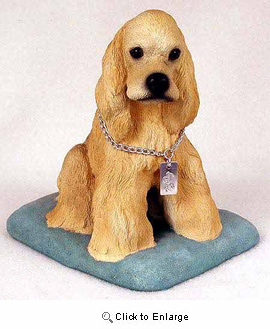 Cocker Spaniel Figurine Buff MyDog
