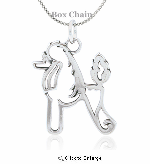 Sterling Silver Poodle Body Necklace