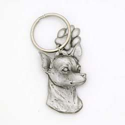 Chihuahua Keychain Pewter