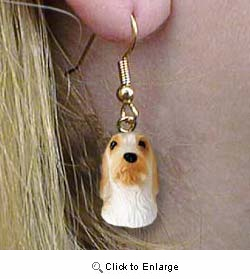 Basset Griffon Vendeen Authentic Earrings