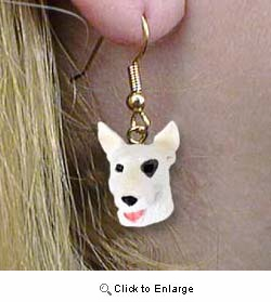 Bull Terrier Authentic Earrings