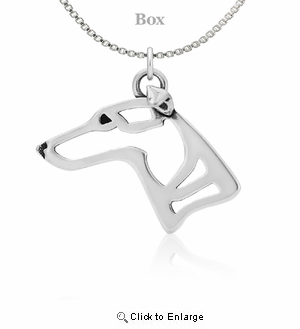 Sterling Silver Whippet Necklace
