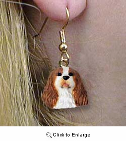 Cavalier King Charles Spaniel Authentic Earrings
