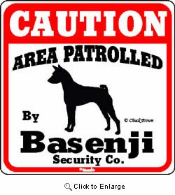 Basenji Caution Sign