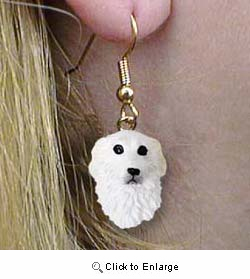 Great Pyrenees Authentic Earrings