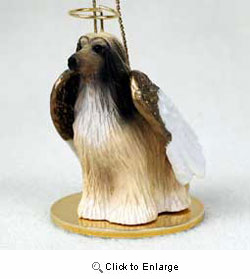 Afghan Hound Christmas Ornament Angel