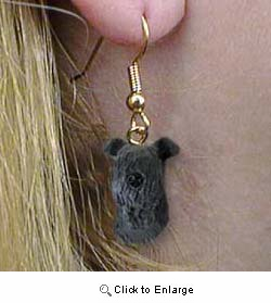 Kerry Blue Terrier Authentic Earrings
