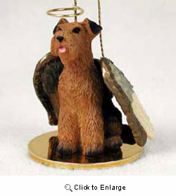 Airedale Terrier Christmas Ornament Angel